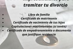 DOCUMENTOS DIVORCIO
